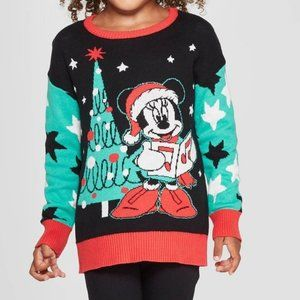 Disney Christmas Minnie Mouse Sweater Size 2T